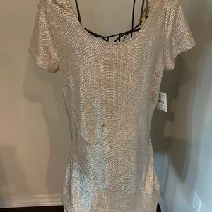 Free People gold dress